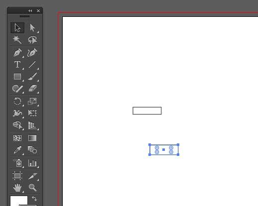 新しい長方形を先ほどの長方形の下に描画